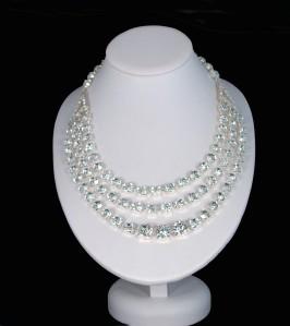 Three row festoon jubilee necklace