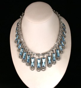 The aquamaring and diamond kokoshnik necklace
