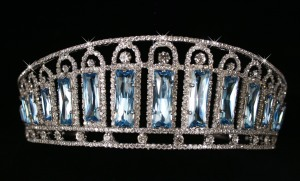 Aquamarine and diamond kokoshnik tiara