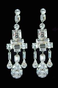 King George VI chandelier earrings
