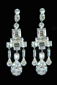 King George VI chandelier earrings