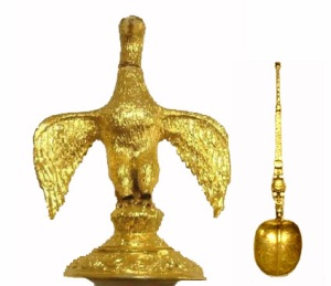 Ampula and anointing spoon