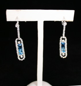 Aquamarine and diamond kokoshnik earrings