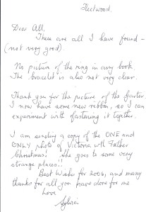 Letter from Queen Victoria 2