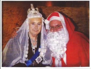 Queen Victoria with Father Christmas