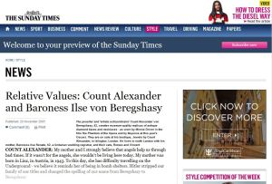 The Sunday Times - Count Alexander
